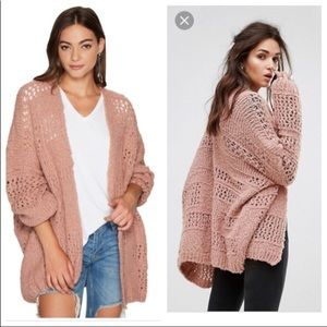 Free People Saturday Morning Cardi Dusty Pink XS/S